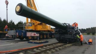 The Royal Artillery's 18 inch Railway Howitzer gun