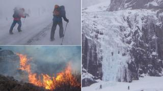 Wind, fire and ice
