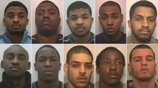 From top left: Lathan Forrester, Derico Smith, Ashaun Townsend, Tremaine Lee, Lance Forrester, Rumaal Ingram, Clarence Edwards, Warren Mason, Olushola Watson and Jermaine Wilson