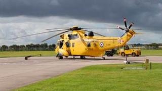 Sea King Mark 3 helicopter at RAF Boulmer