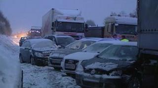 Pile-up on A1 (ORF TV)