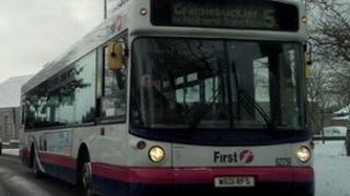 Bus in Aberdeen