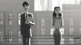 Press release shot from Disney's Paperman