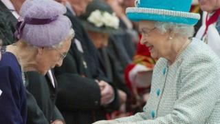The Queen attending Royal Maundy Service at York in 2012