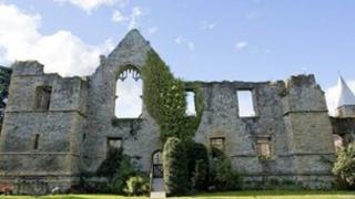 The ruins of the Archbishop's Palace, Southwell.