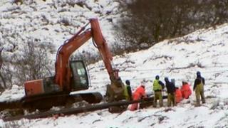 Repair efforts in Kintyre