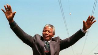 Nelson Mandela, 1990