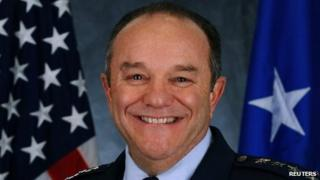 Commander of US Air Force units in Europe and Africa General Philip Breedlove is seen in this undated handout photo