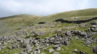 The hillside below Bwlch y Rhiwgyr. Photo: Copyright Eric Jones and licensed for reuse under a Creative Commons Licence