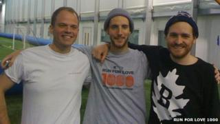 From left: Guy Hacking, Rob Martineau and Tom Stancliffe