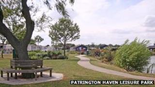 A view of the Patrington Haven Leisure Park