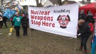 Anti-nuclear campaigners