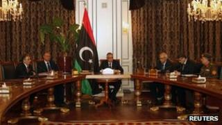 Libyan Prime Minister Ali Zeidan gives a news conference (31 March 2013)