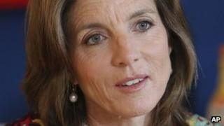 Caroline Kennedy in an interview with the Associated Press in New York 26 March 2013