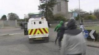 youths attack psni vehicles at easter commemoration in derry