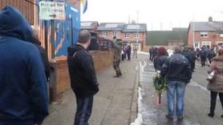 gunman fires shot at mural during Easter commemoration in north Belfast