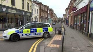 Police in Wood Street, Swindon