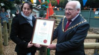 Beth Tweddle is given the Freedom of the Borough of Cheshire East