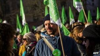 Danish teachers' protest in Copenhagen, 2 Apr 13