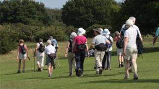 pensions walking