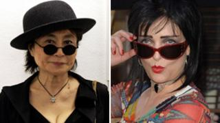 Yoko Ono and Siouxsie Sioux