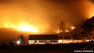 Fire near Auchtertyre Primary School, Lochalsh