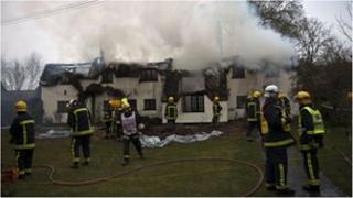 Cholderton thatch fire
