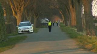 Police at murder scene in Thorney