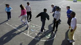 Children playing in playground - generic