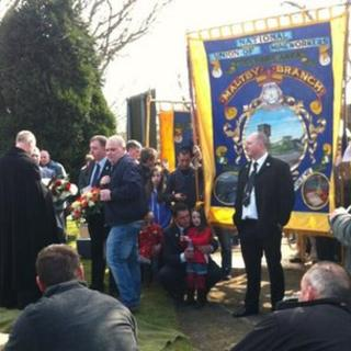 Service at Maltby cemetery