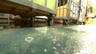 Water left in County Hall