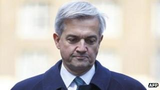 Chris Huhne arrives in court