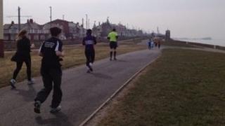 Runners in Blackpool Marathon 2013