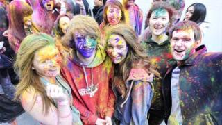 Belfast's biggest colour party marked the annual Indian festival