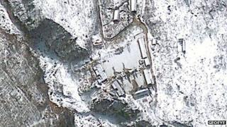 Aerial view of Punggye-ri test site - 12 February