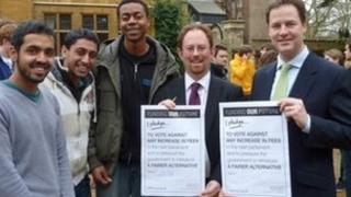Nick Clegg pledges not to raise tuition fees