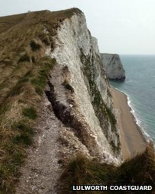 Cliffs west of Lulworth