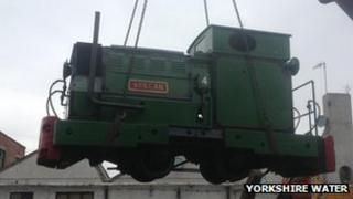 The new diesel engine donated to the Embsay and Bolton Abbey steam railway