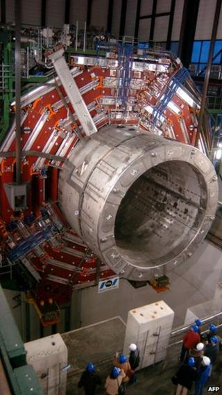 A magnet weighing nearly 2,000 tonnes provides a magnetic field for the particle detector