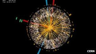 Image from experiment at CERN