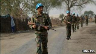 Indian Unmiss solider in Jonglei