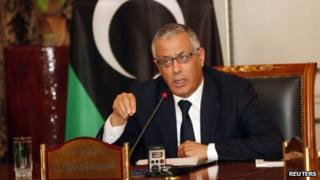 Libya's Prime Minister Ali Zeidan at a press conference on 31 March 2013
