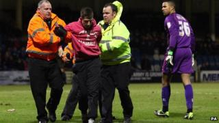 Joshua Saunders was detained during match on 4 February