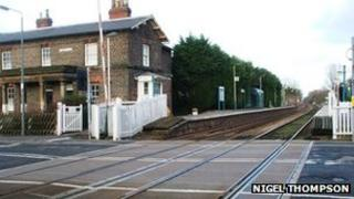 Level crossing at Nafferton Station
