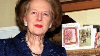 Baroness Thatcher in 2000