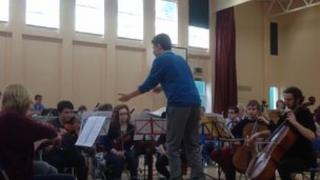 Angus Webster conducting