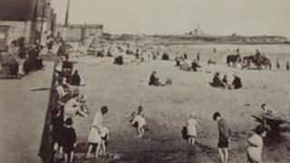 People on the beach at Newbiggin