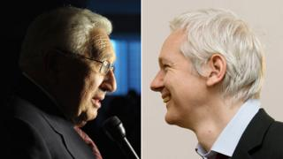 Henry Kissinger and Julian Assange