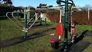 Outdoor gym in Delancey Park