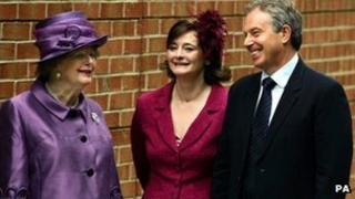 Baroness Thatcher, Cherie Blair and Tony Blair (2007)